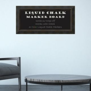 Amanti Art Signore Rectangular Framed Liquid Chalkboard Wall Decor