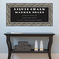 Amanti Art Luxor Rectangular Framed Liquid Chalkboard Wall Decor