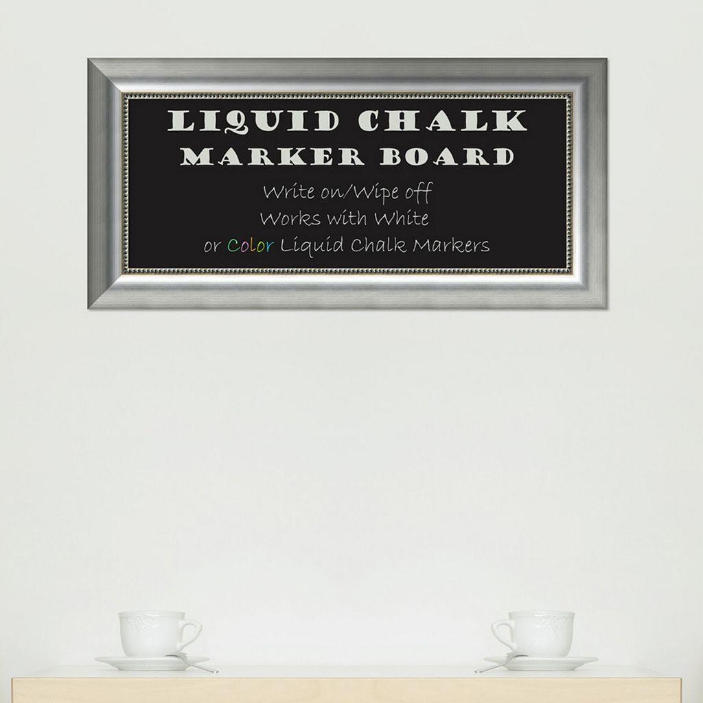 Amanti Art Vegas Rectangular Framed Liquid Chalkboard Wall Decor