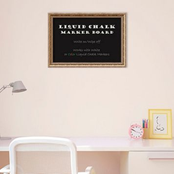 Amanti Art Small Fluted Champagne Framed Liquid Chalkboard Wall Decor