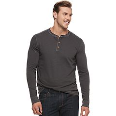 Big & Tall SONOMA Goods for Life™ Slim-Fit Garment-Dyed Henley