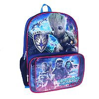 Kids Marvel Guardians of the Galaxy Vol. 2 Groot, Rocket Racoon & Star-Lord Backpack & Lunch Bag Set