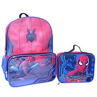 Kids Marvel Spider-Man Backpack & Lunch Bag Set
