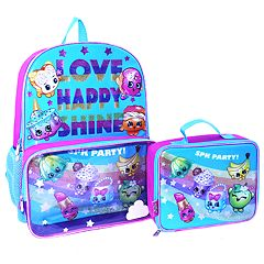 Kids Shopkins Fairy Crums, Lippy Lips & Buncho Bananas 'Love Happy Shine' Backpack & Lunch Bag Set