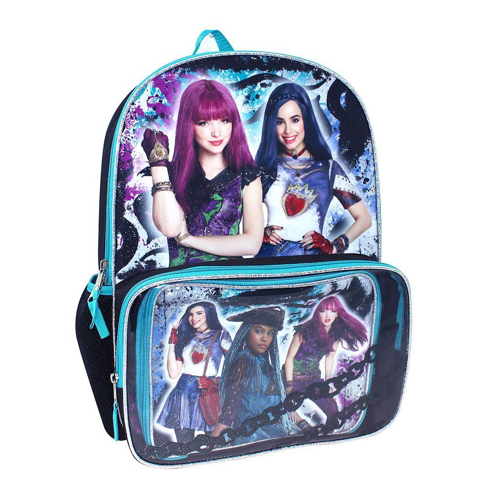 Disney's Descendants Evie, Mal & Uma Kids Backpack & Lunch Box Set