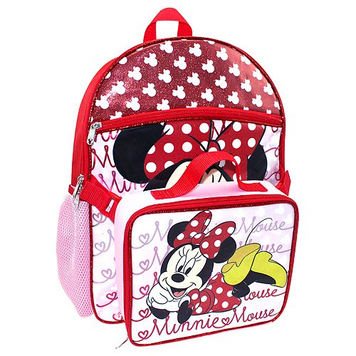 e9ea49d2ff1 Disney s Minnie Mouse Kids Sparkly Backpack   Lunch Box Set