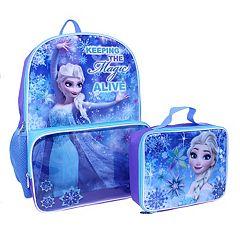Disney's Frozen Kids Elsa 'Keeping the Magic Alive' Backpack & Lunch Bag Set