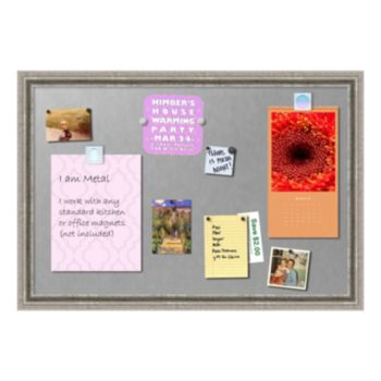 Amanti Art Medium Silver Finish Magnetic Bulletin Board Wall Decor