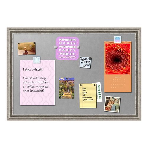 Amanti Art Medium Silver Finish Magnetic Bulletin Board Wall Decor