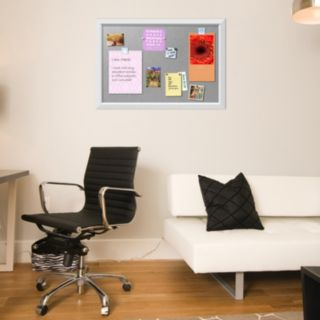 Amanti Art Medium White Magnetic Bulletin Board Wall Decor