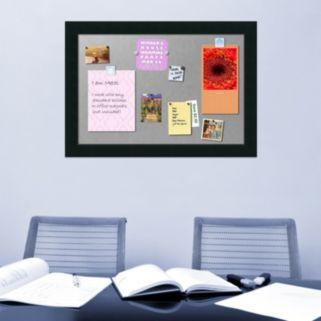 Amanti Art Large Corvino Black Finish Magnetic Bulletin Wall Decor