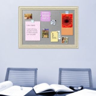 Amanti Art Country White Wash X-Large Framed Magnetic Board