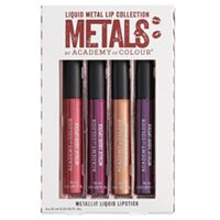 Academy of Colour 4-pk. Dark Metallic Liquid Lipstick Collection