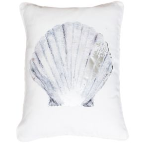 Thro by Marlo Lorenz Shona Shell Beaded Oblong Throw Pillow
