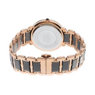 burgi Women's Diamond Two Tone Stainless Steel & Ceramic Watch