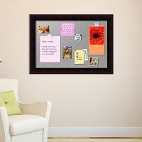 Amanti Art Portico Espresso Finish Framed Magnetic Bulletin Wall Decor