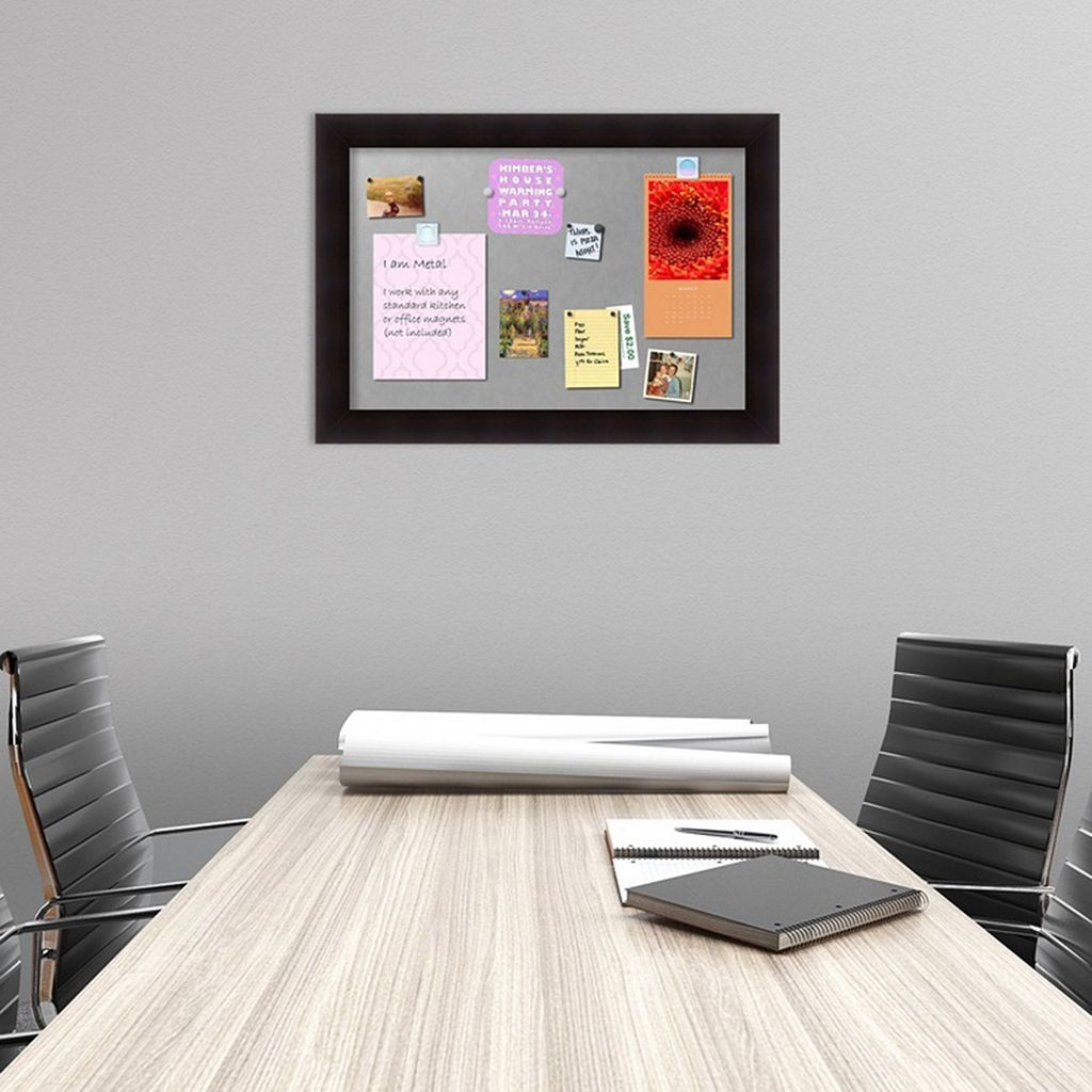 Amanti Art Portico Espresso Finish Framed Magnetic Bulletin Wall Decor