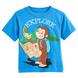 "Toddler Boy Curious George ""Explore"" Graphic Tee"