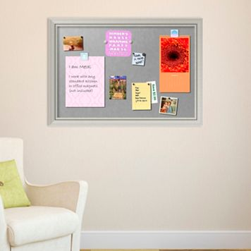 Amanti Art Romano Silver Finish X-Large Framed Magnetic Board