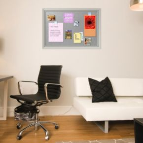 Amanti Art Romano Silver Finish X-Large Framed Magnetic Board