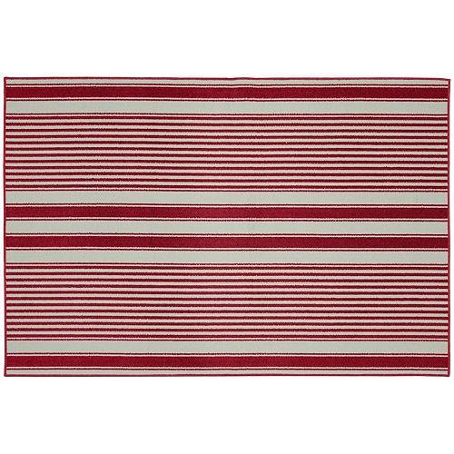 Garland Rug Cape Cod Striped Rug - 6' x 8'