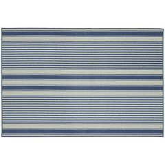 Garland Rug Cape Cod Striped Rug - 6' x 8'