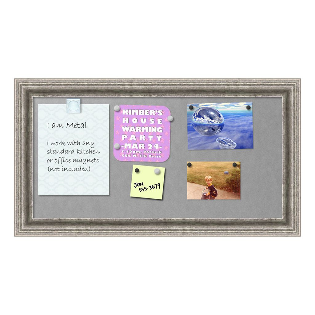 Amanti Art Small Silver Finish Magnetic Bulletin Board Wall Decor