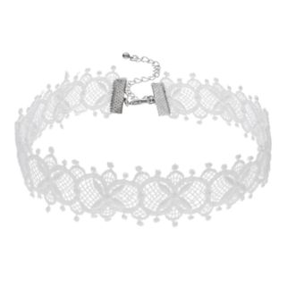 White Lace Choker Necklace