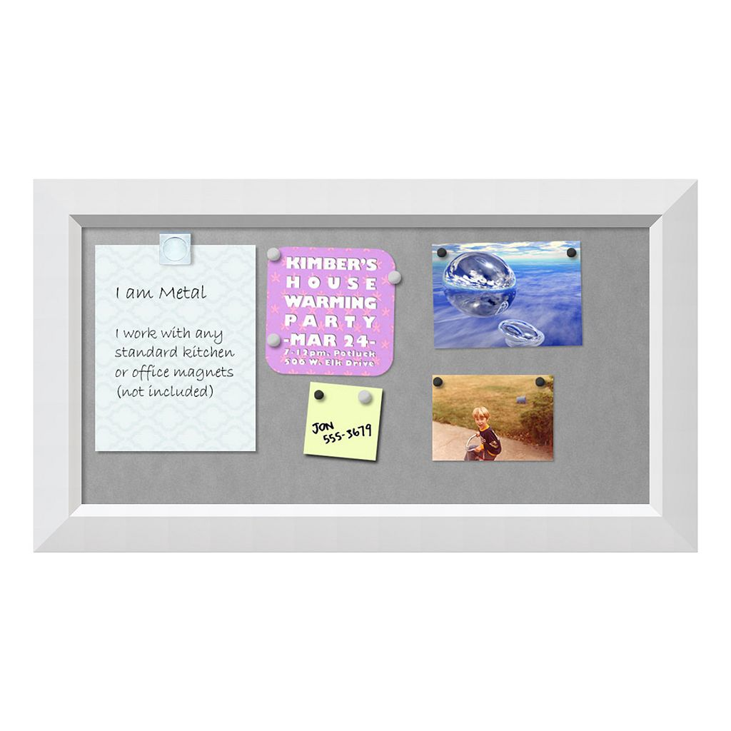 Amanti Art Small White Magnetic Bulletin Board Wall Decor