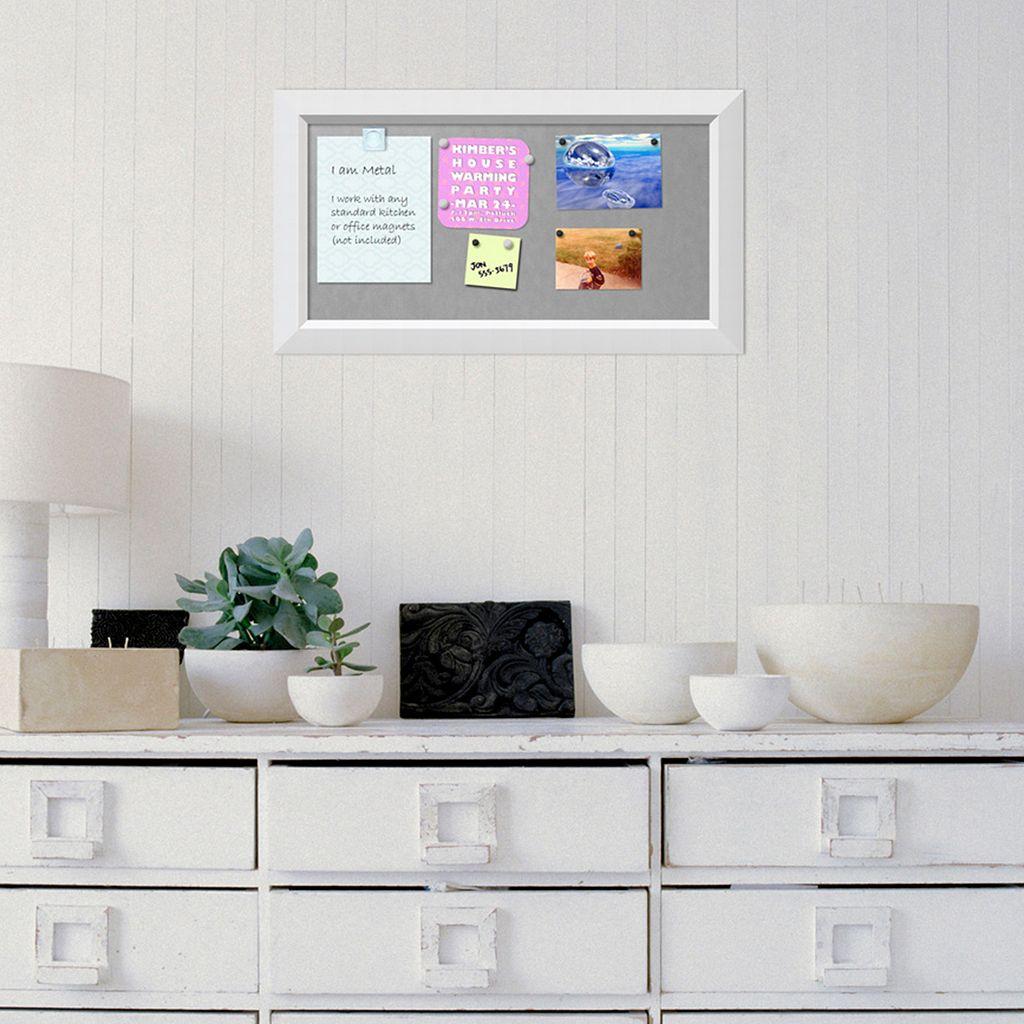 Amanti Art Small White Magnetic Bulletin Board Wall Decor
