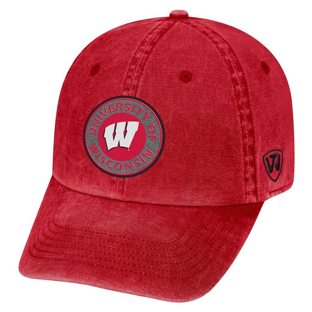 Adult Wisconsin Badgers Fun Park Vintage Adjustable Cap