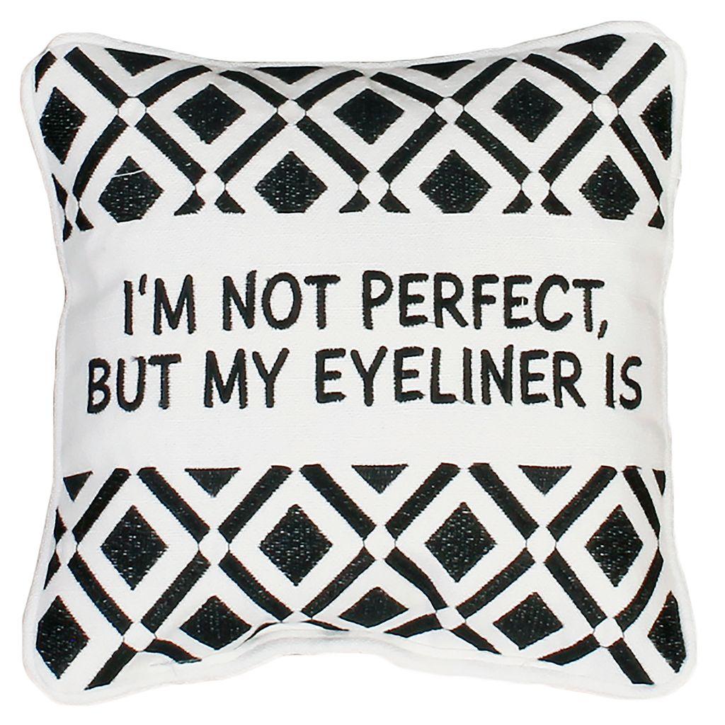 Thro by Marlo Lorenz ''Eyeliner'' Small Throw Pillow