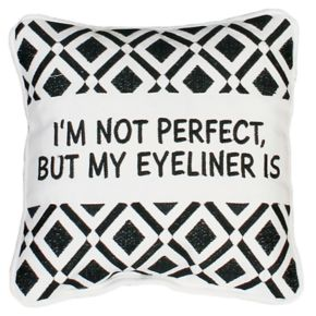Thro by Marlo Lorenz ''Eyeliner'' Small Throw Pillow