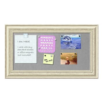Amanti Art Country White Wash Medium Framed Magnetic Board