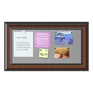 Amanti Art Medium Cyprus Walnut Finish Magnetic Bulletin Wall Decor