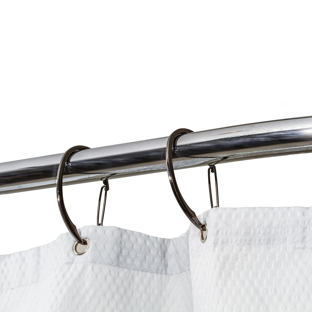 Splash Home 12-pack Cinch Spring Shower Curtain Hooks