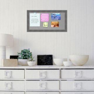 Amanti Art Rustic Gray Magnetic Bulletin Board Wall Decor