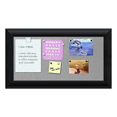 Amanti Art Medium Black Finish Magnetic Bulletin Wall Decor