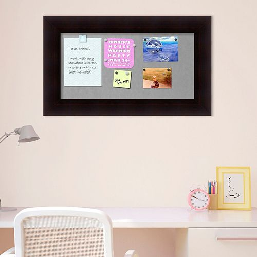 Amanti Art Portico Espresso Rectangular Framed Magnetic Board Wall Decor