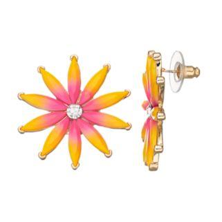 Ombre Flower Nickel Free Drop Earrings
