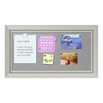 Amanti Art Romano Silver Finish Medium Framed Magnetic Board