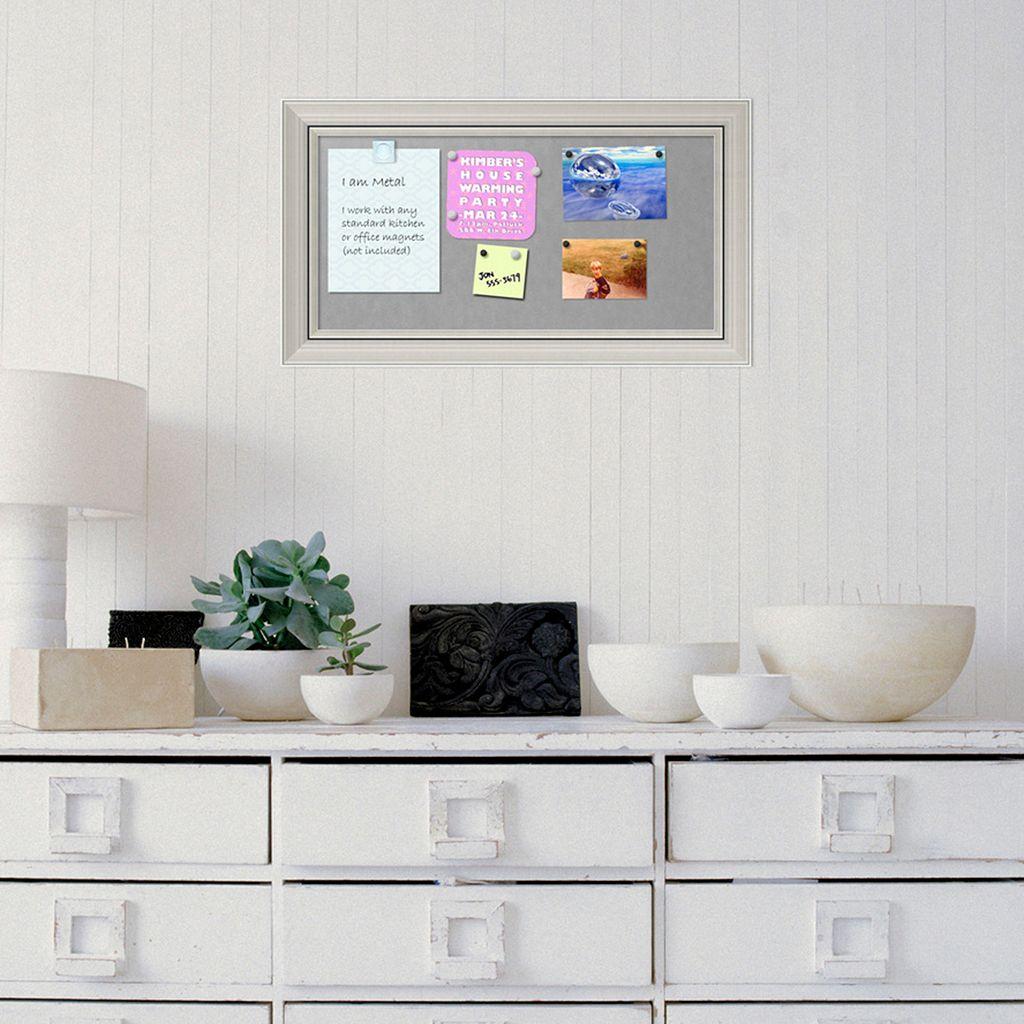 Amanti Art Romano Silver Finish Medium Framed Magnetic Board