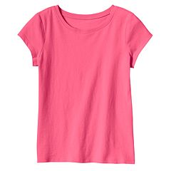 Girls 4-10 Jumping Beans® Basic Short Sleeve Solid Tee