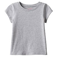 Girls 4-10 Jumping Beans® Basic Short Sleeve Solid Tee