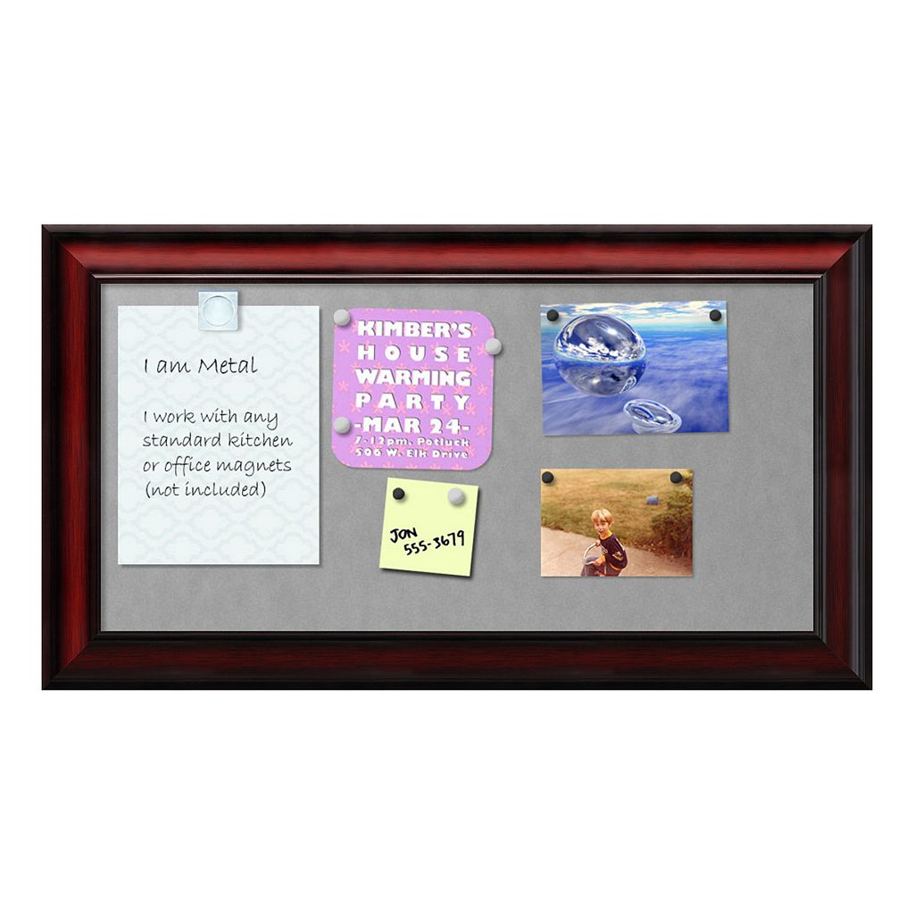 Amanti Art Rubino Scoop Rectangular Framed Magnetic Board Wall Decor