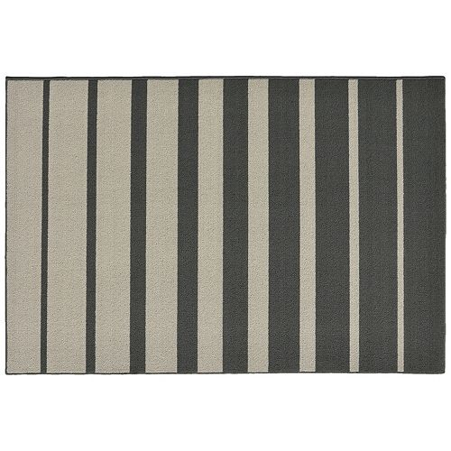 Garland Rug Stair Steps Striped Rug - 5' x 7'6''