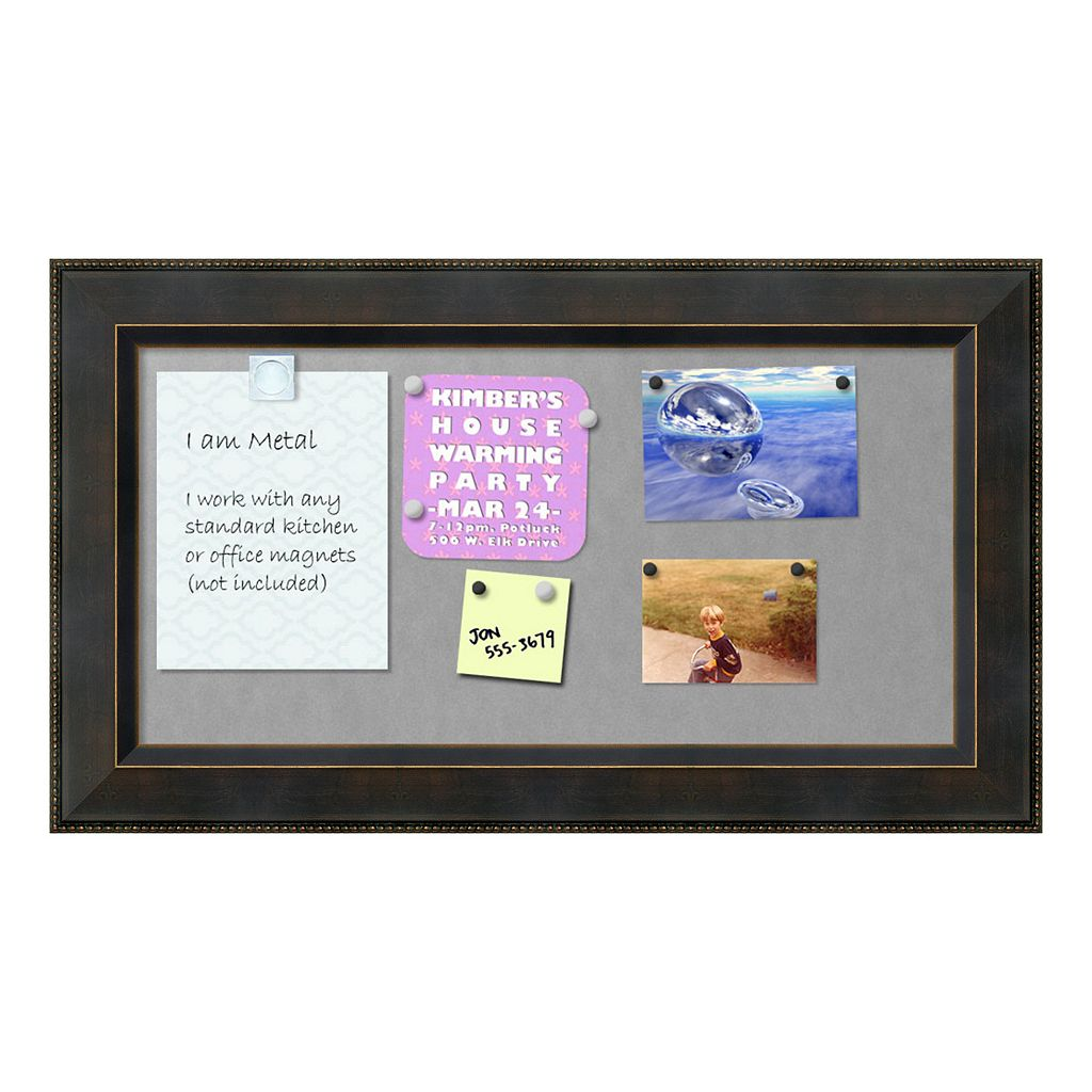 Amanti Art Signore Rectangular Framed Magnetic Board Wall Decor