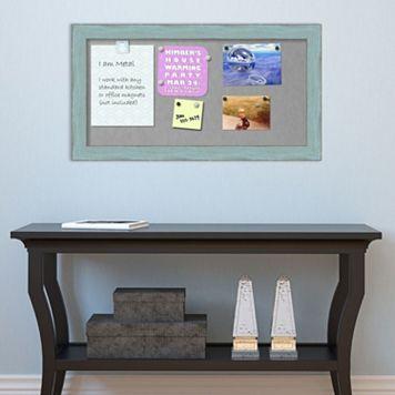 Amanti Art Rustic Blue Framed Magnetic Bulletin Board Wall Decor