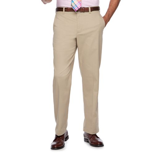 Men's Croft & Barrow® Classic-Fit Easy-Care Stretch Flat-Front Khaki Pants