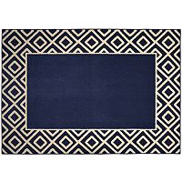 Garland Rug Diamond Framed Rug - 5' x 7'